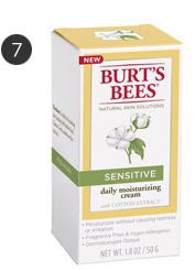 Burt's Bees sensitive skin moisturizer with cotton extract