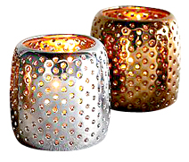 Perforated Metallic Tealight Holders