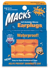 Mack's Waterproof Silicone Kid's Earplugs