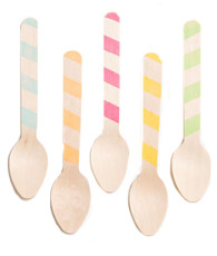 Pomme NYC Stripey Wooden Spoons