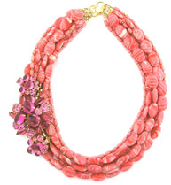 Elva Fields Pink Pretender Necklace