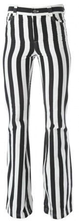 ALice and Olivia High-Waist Stripe Pants