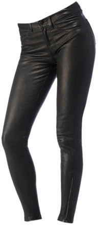 J Brand Black Leather Super Skinny Jeans