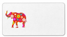 Elephant Funky Retro Floral Labels--from Zazzle