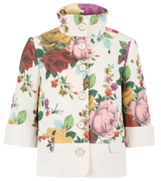 Ted Baker of London Garden Print Crop Jacket