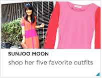 Sunjoo Moon--five favorite Outfits
