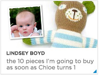 Lindsey Boyd - The 10 pieces I'm buying as soon as Chloe turns 1