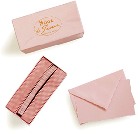 Mode de Paris G. Lalo Correspondence Cards in Rose