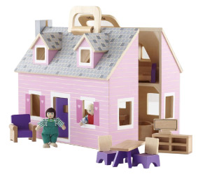 Melissa and Doug Fold and Go Dollhouse
