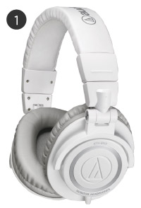 White Audio Technica Headphones