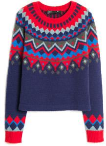 Proenza Schouler Intarsia Pullover Sweater